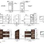 Architecture intérieure d'un institue de beauté, meuble de caisse