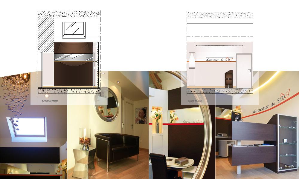 architecture int rieur pour commerce specialis dans le secteur de l 39 esthetique soins et. Black Bedroom Furniture Sets. Home Design Ideas